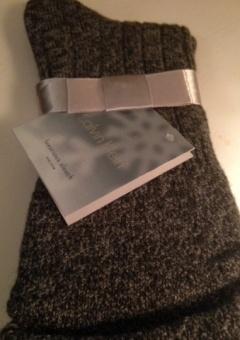 Calvin Klein Luxurious slouch socka grey