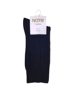 Note Wool kabelstickad socka