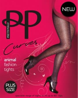 Pretty Polly - Curves animal fashion tights - Plus size