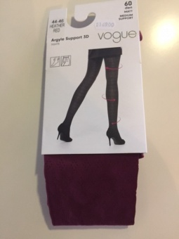 Vogue Strumpbyxa Argyle Support 3D