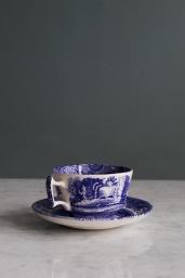 Blue Italian Breakfast Cup