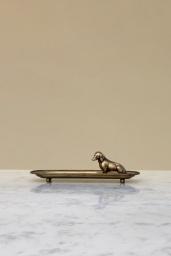 Gold Dog Tray