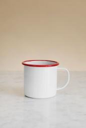 Kaffemugg Emalj Röd
