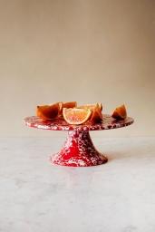 Tårtfat Splatter Red