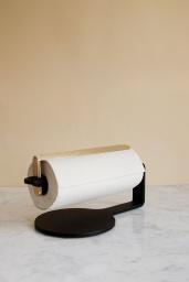 Hushållsrullehållare Svart/Mässing