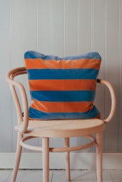 Soft Stripe Cushion 50x50 Blue/Brown
