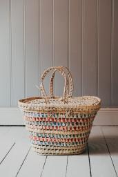 Picnic Basket Blue-Red Ribbon