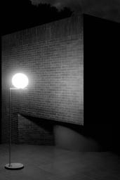 FLOS Floor IC Light F1 Outdoor Black / Black Lava