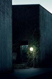 FLOS Floor IC Light F2 Outdoor Black / Black Lava
