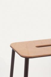 Frama Studio Stool Svart/Läder natur