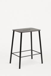 Frama Studio Stool Svart/Svart läder