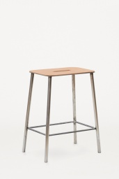 Frama Studio Stool Raw/Läder natur