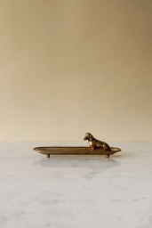 Gold Dog Tray