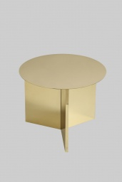 Slit Table Round Brass
