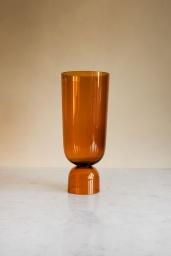 Bottoms Up Vase Amber