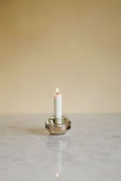 Round Crystal Candle Holder