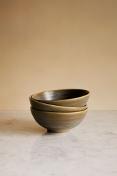 Rustic Salad Bowl Green/Grey
