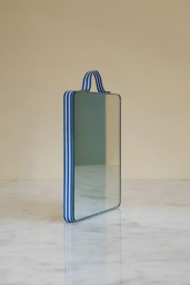 Ruban Mirror Rectangular Blue Stripe