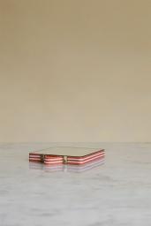 Ruban Mirror Square Orange stripe