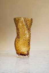 Ostrea Rock Vase Amber