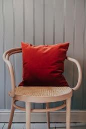 Velour Cushion 45cm Coral