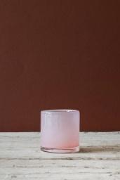 Ljuskopp i Återvunnet Glas 7 cm Rosa