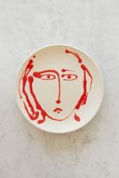 Middagstallrik Face Red