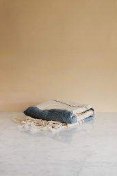 Cotton & Linen Fouta Blue