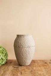 Paperpulp Vas Natur H 26,5 cm