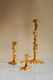 Drip Candle Holder Gold L