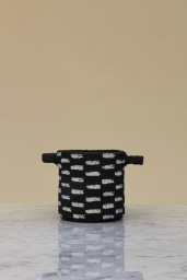 Pot Marie Paper Mache Black