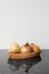 Skål Oval Olivträ 20 cm