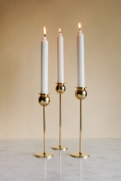 Tulip Candlestick Set of 3