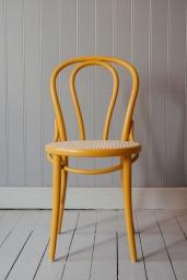 Stol TON No.18 Gul/Flätad Sits