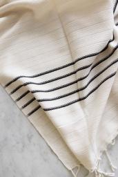 Turkish Peshtemal Black Stripes