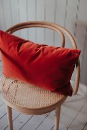 Velour Cushion Coral