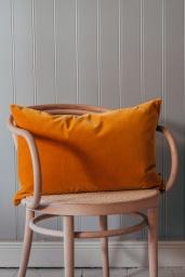 Velour Cushion Ochre