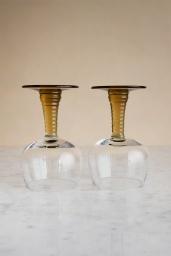 Swirl Wine Glass Olive Green