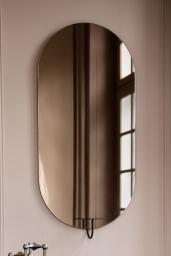 Spegel Miró Miró Oval Grey Mist