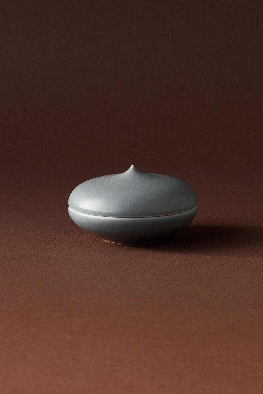 Keramikask Med Topp Grå Matt