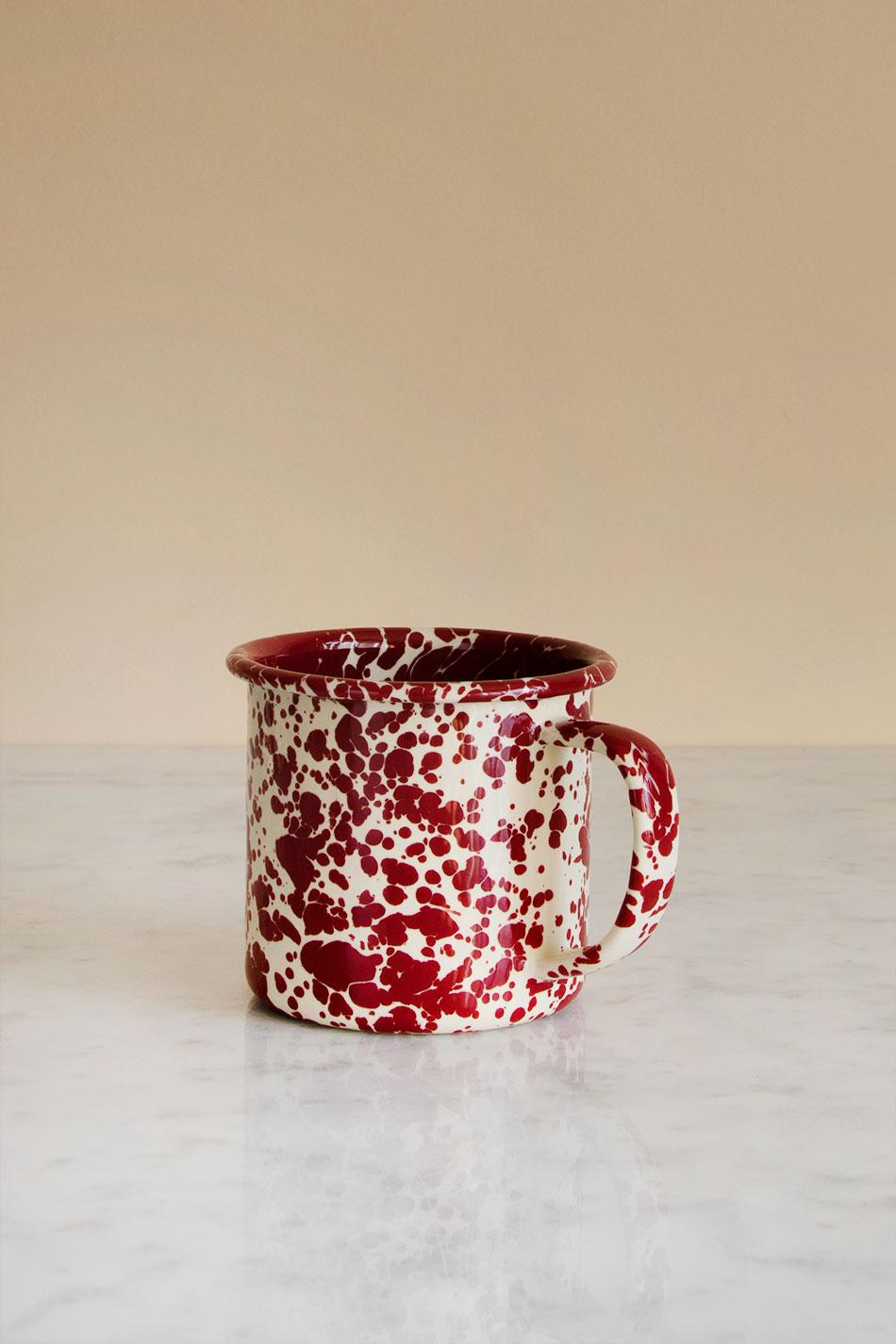 Kaffemugg Splatter Burgundy