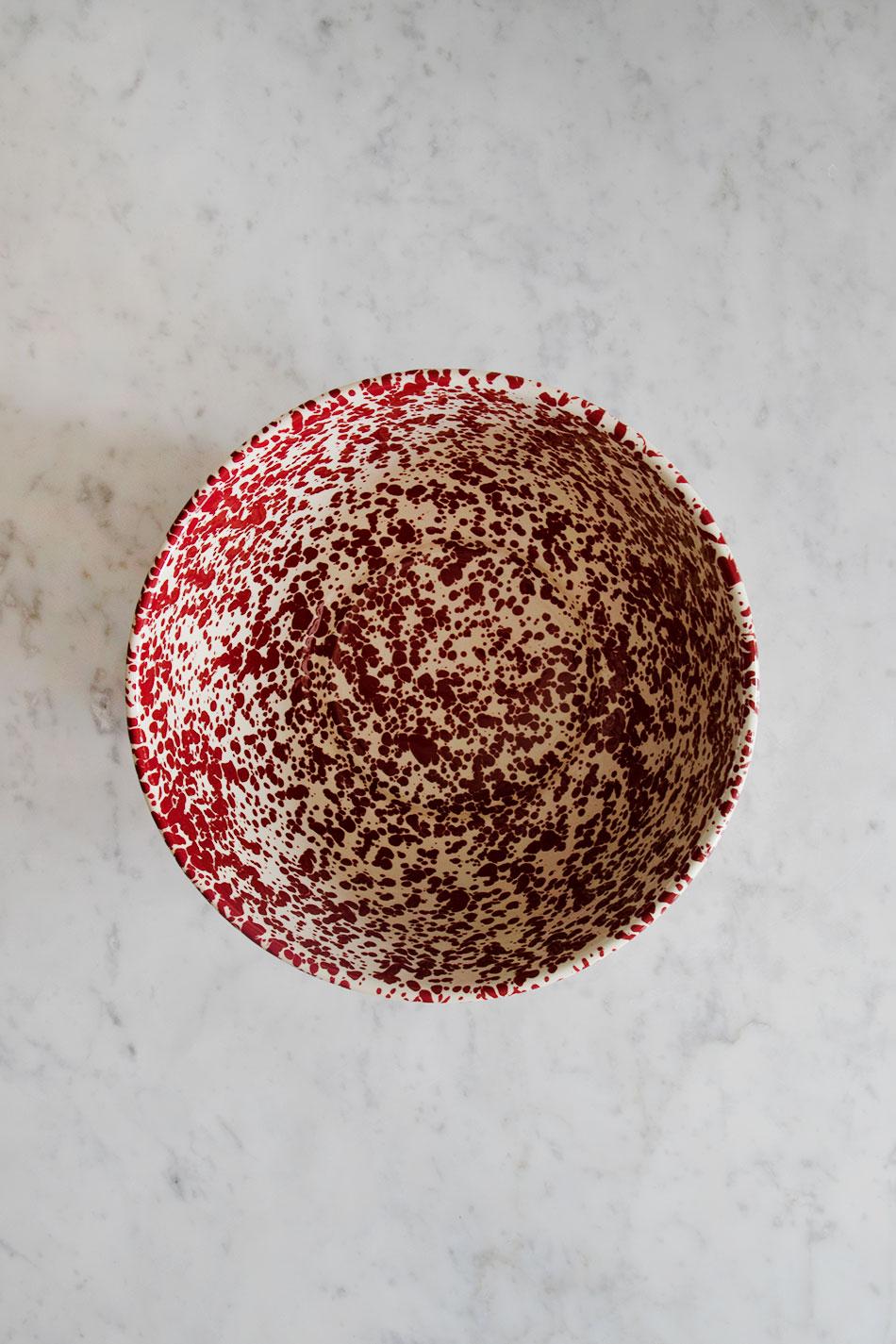 Serveringsskål Splatter Burgundy