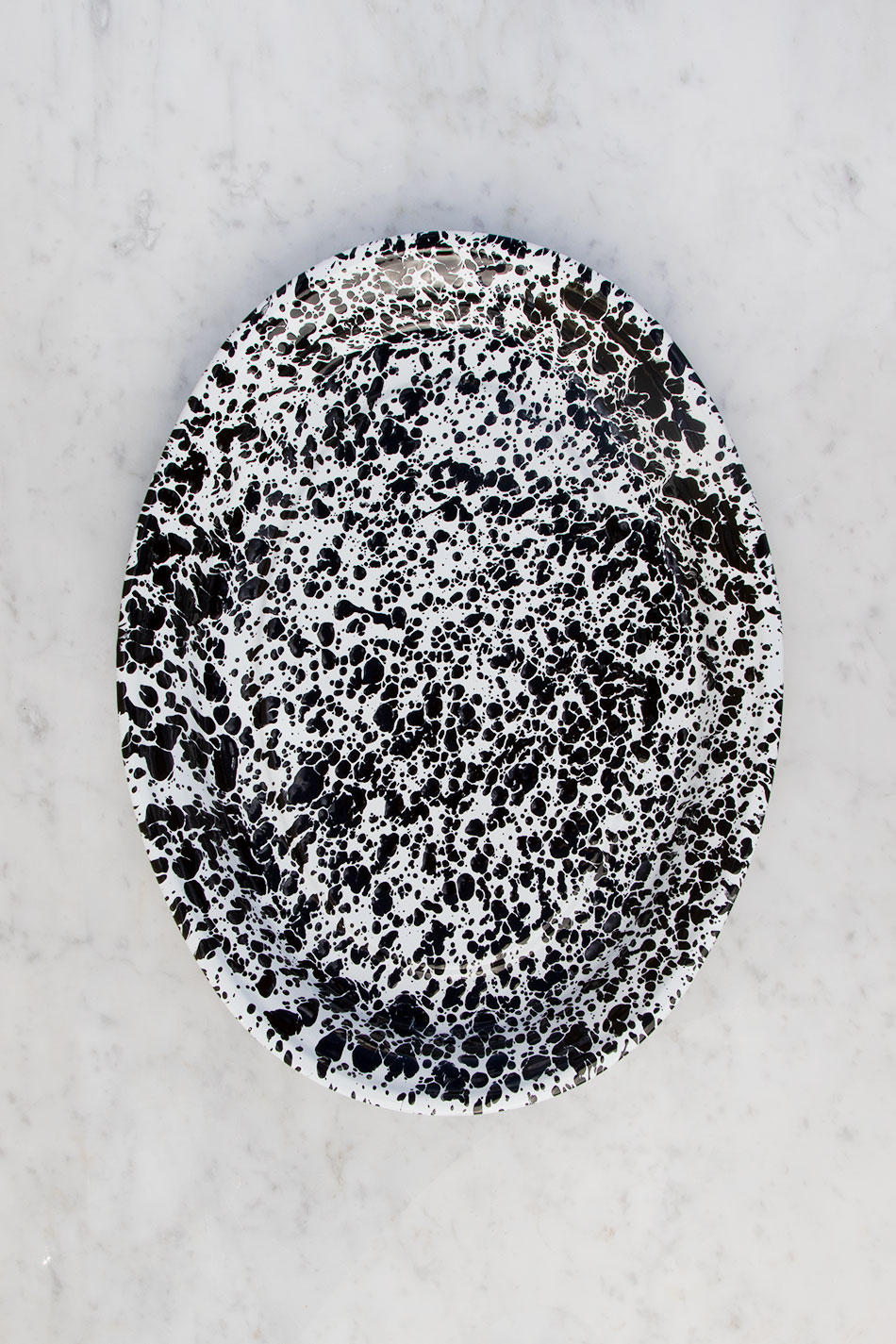 Serveringsfat Splatter Black Large