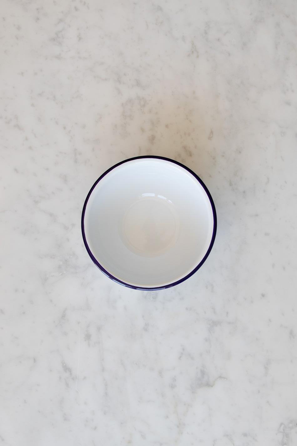 Frukostskål Emalj Blå Kant