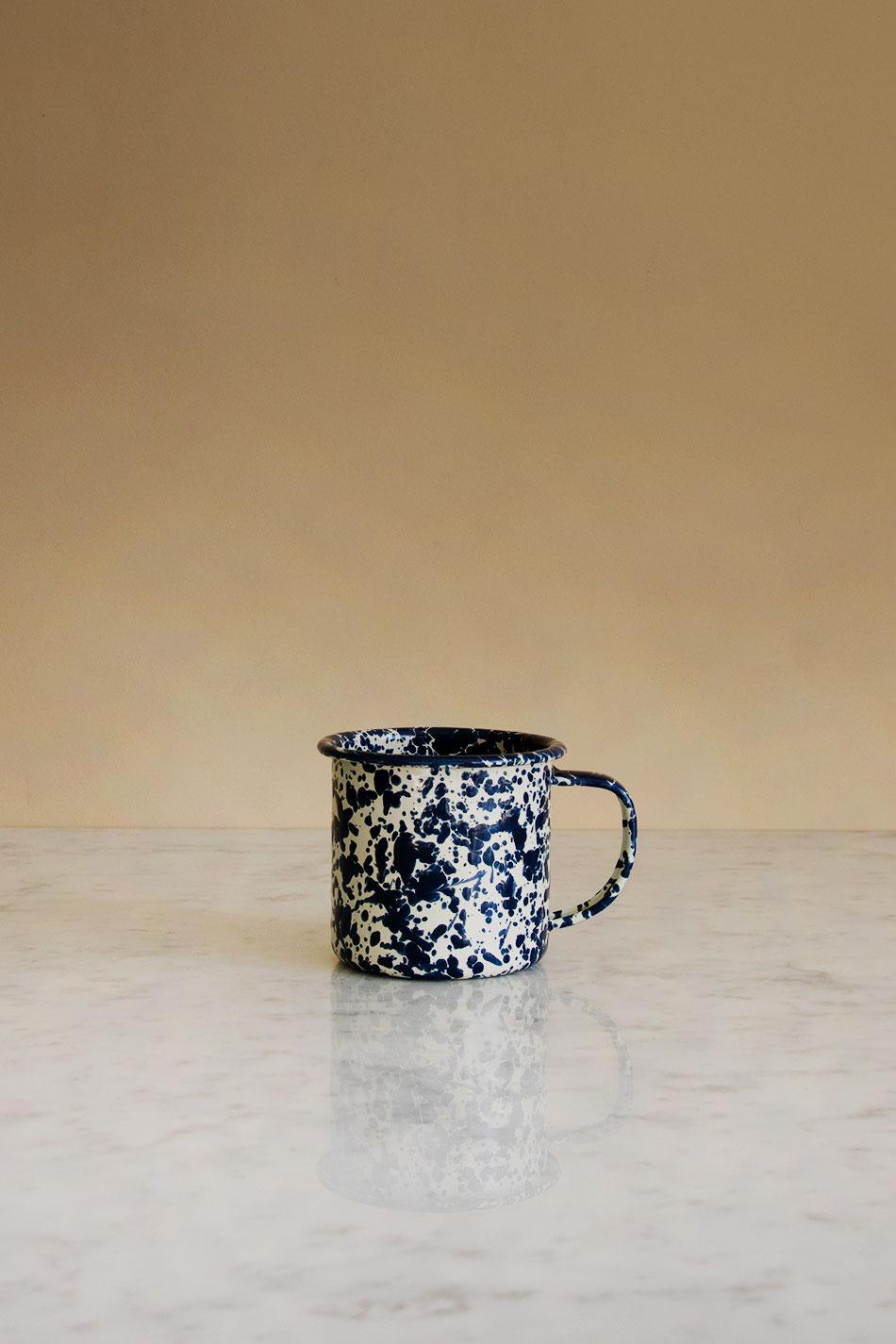 Kaffemugg Splatter Navy