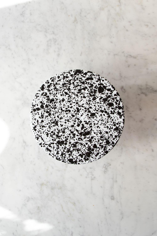 Tårtfat Splatter Black