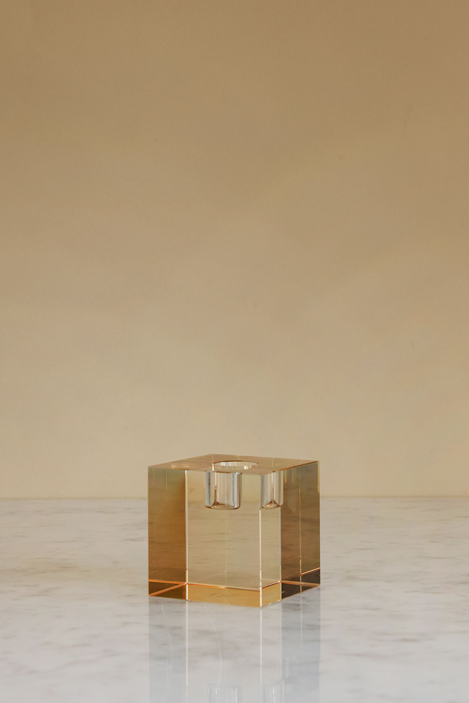 Cube Crystal Candle Holder