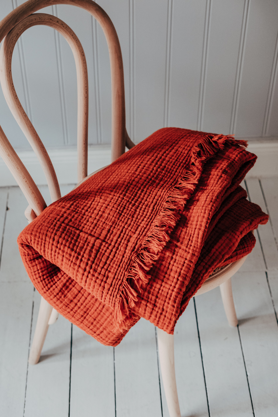 Crinkle Plaid Autumn red