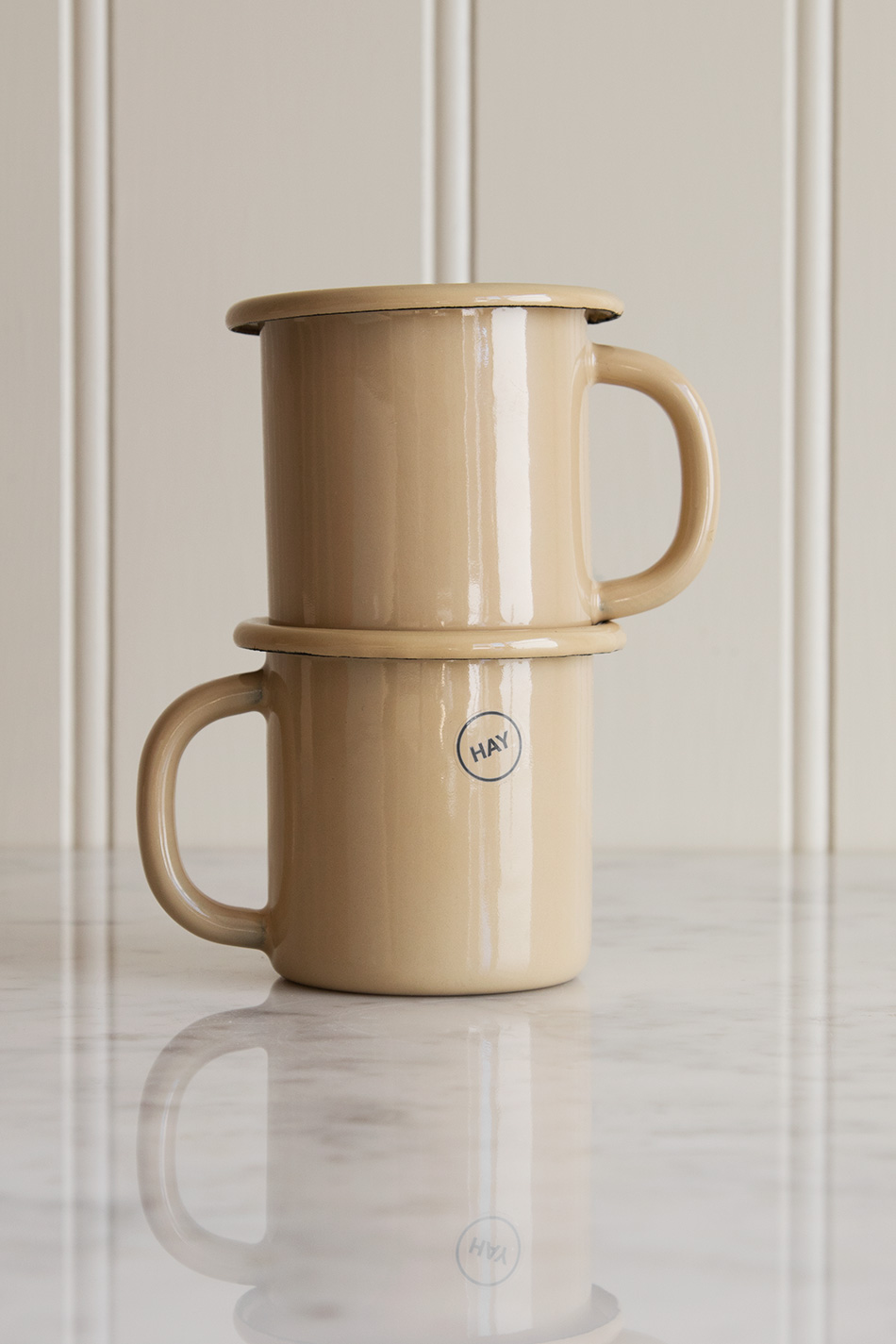 Enamel Cup Brown