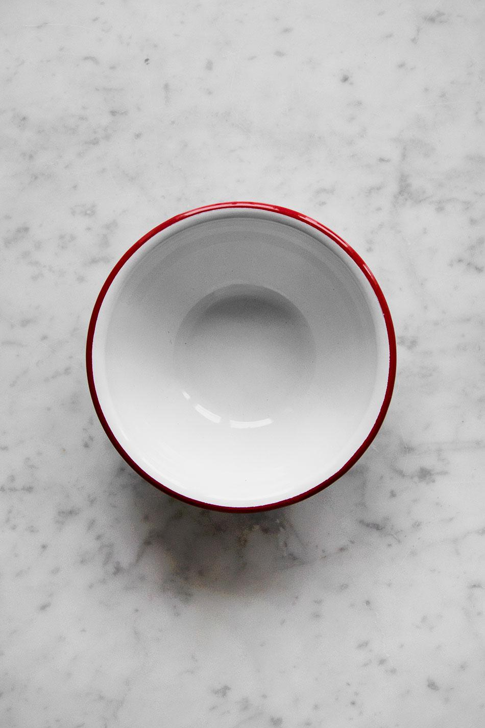 Frukostskål Emalj Röd